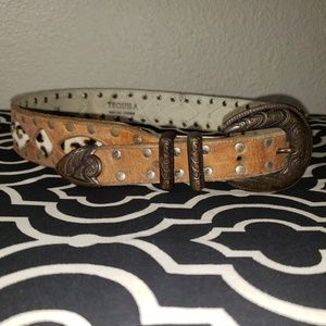 VINTAGE TEQUILA BELT Leather Cowboy Western Small